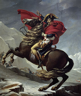Napoleon Crossing The Saint Bernard Chronicles of Riches :...