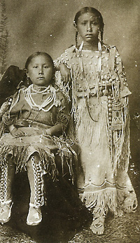 Daughters of Kiowa chief, Big Tree, mid 19th century.