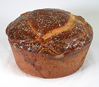 Photograph of traditional Macedonian wedding bread.