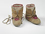 Winter ankle-wrap moccasins