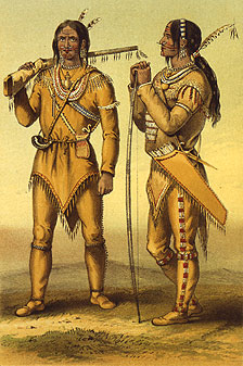 Gwich'in hunters in summer clothing, 1847.