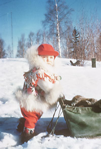 Little boy, Fort Franklin, (Great Bear Lake), Northwest Territories